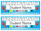 Desk Name Tags 8.5x11 in Microsoft Publisher (Multicolor & Editable)