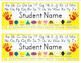 Desk Name Tags 8.5x11 in Microsoft Publisher (Multicolor & Editable)