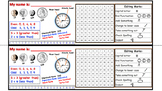 Desk Name Tags (100s chart, number line, coins, math symbols)