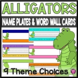 Alligator Name Plate with Alphabet and Number Line