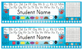 Desk Name Tags w/Australian Coins - 8.5x14 in MS Word (Multi-color & Editable)
