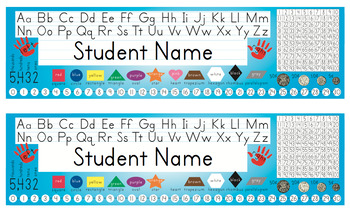 Desk Name Tags w/Australian Coins - 8.5x14 in MS Word (Mul