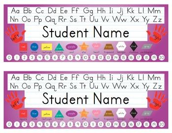 Desk Name Tags 8.5x11 in Microsoft Word (Multicolor & Editable)