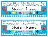 Desk Name Tags 8.5x11 in Microsoft Word (Multicolor & Editable)