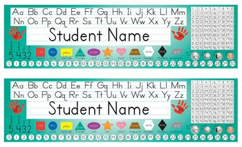 Desk Name Tags 8.5x14 in Microsoft Word (Multicolor & Editable)