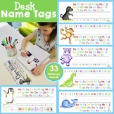 Desk Name Tags (Alphabet and Numbers 0-20 Labels)