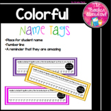 Desk Name Tags Bright Colors