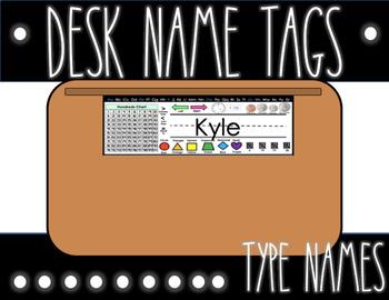 Desk Name Tags *EDITABLE*