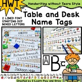 Desk Name Tags Editable Handwriting Without Tears HWT