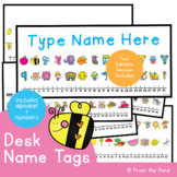 Desk Name Tags - Editable Version Included