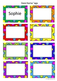 Desk Name Tags - Editable (type in your own student's names)