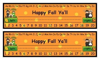 Desk Name Tags--Fall Theme