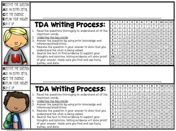 Desk Name Tags For the Reading, Writing, & Math Teacher (color/blk+white)