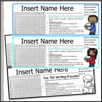 Desk Name Tags For the Reading, Writing, and Math Teacher (Color)