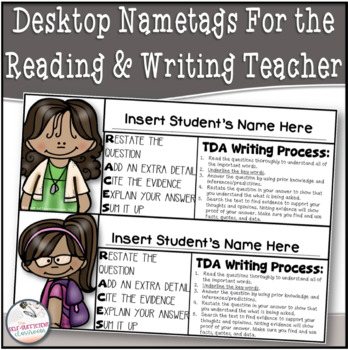 Desk Name Tags For the Reading and Writing Teacher