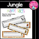 Desk Name Tags Jungle Theme