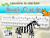Desk Name Tags  Letters in the Zoo FREEBIE