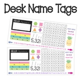 Desk Name Tags. Name editable. Letter Size template