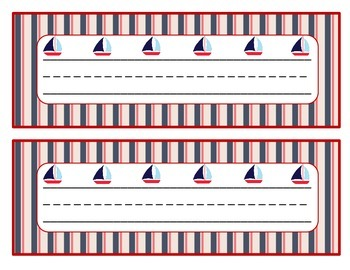 Desk Name Tags / Nameplates Nautical (6 different designs)