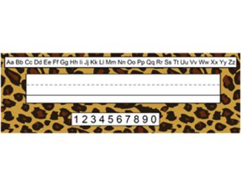 Desk Name Tags: Safari Themed! EXTRA LARGE
