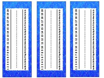 Desk Name Tags (Sparkle)
