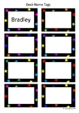 Desk Name Tags - Stars (Editable - type in your own studen