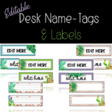 Desk Name Tags and Labels **Succulents and Cactus ** Edita