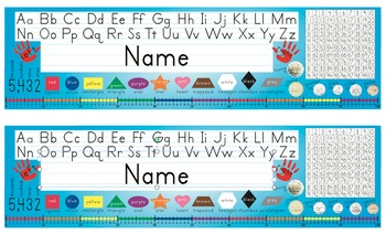 Desk Name Tags w/Canadian Coins & Number Line - 8.5x14 in
