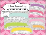 Desk Name Tags with Bunting Number Line!