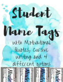 Desk Name Tags with Motivational Quotes