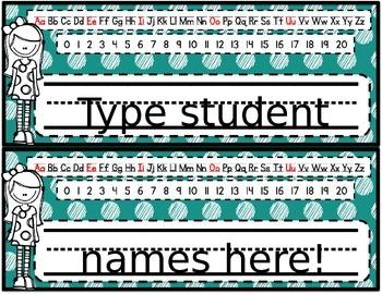 Editable Desk Name Tags/Name Plates