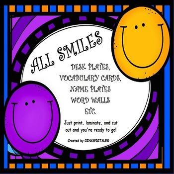 Smiley Face Desk Plates