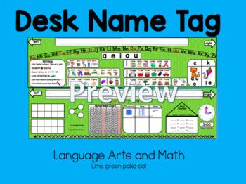 Desk Name tag: Math and Language Arts