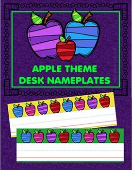 Desk Nameplates - Apples