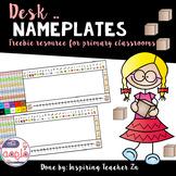 Desk Nameplates Freebie - بطاقات الأسماء للطاولات