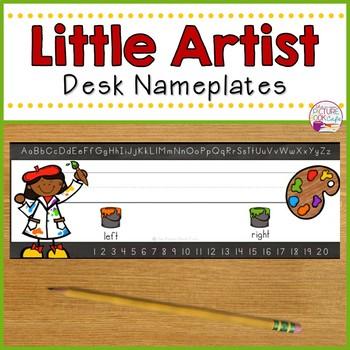 Desk Nameplates-Little Artist Themed