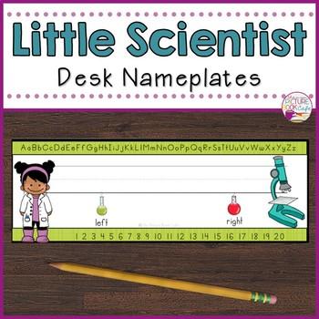 Desk Nameplates-Little Scientist
