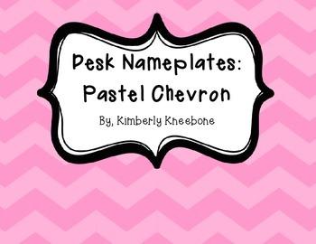 Desk Nameplates: Pastel Chevron