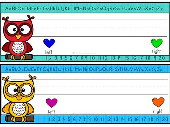 Desk Nameplates-Rainbow Owls Themed