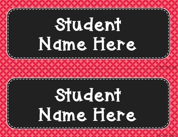 Desk Nameplates - Perfect Patterns (Editable)