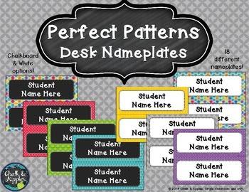 Desk Nameplates - Perfect Patterns (Editable)