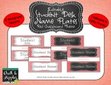 Desk Nameplates - Red Chalkboard theme