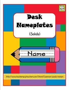 Desk Nameplates Solids