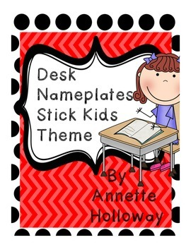 Desk Nameplates Stick Kids