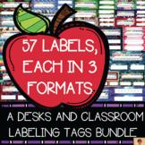 Desk Nameplates and Classroom Labels {BUNDLE}