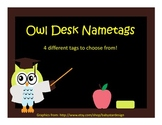 Desk Nametags- Owl Theme