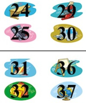 Desk Number Stickers -- Print-Ready for First Day