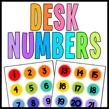 Student Desk Numbers