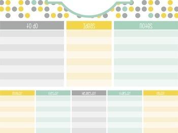 Desk Organizer : A deskpad planning sheet