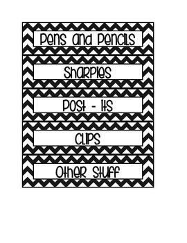 Desk Organizer Labels
